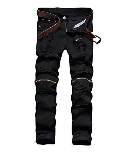 Zipper Men Jeans - 6