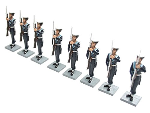 British Toy Soldier Company BTS40 Royal Navy Ratings in 1936 Dress Uniforms, at Present Arms