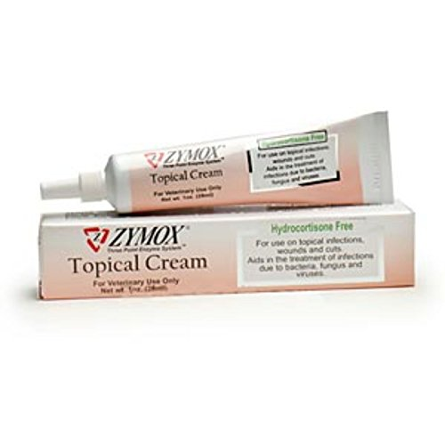 Zymox Topical Pet Cream without Hydrocortisone, 1-Ounce