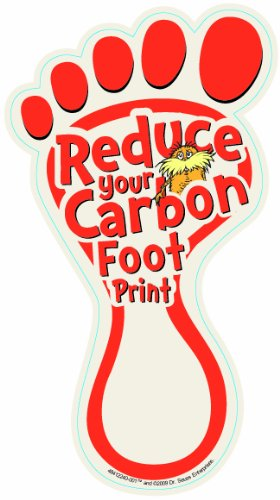 Eureka The Lorax Project Carbon Footprints 5-Inch Paper Cut-Outs, Package of 36 (The Lorax Project)