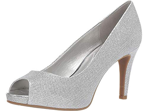 (Bandolino Women's RAINAA Pump, Silver, 10 Medium US)
