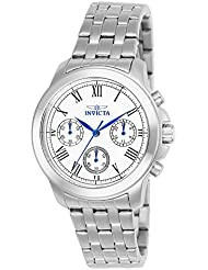 Invicta Womens 21653 Specialty Analog Display Swiss Quartz Silver-Tone Watch