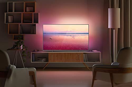 "Smart TV Philips 55PUG6794/78 55"" 4K UHD AMBILIGHT 3 lados HDR10+ Dolby Vision Dolby Atmos Bluetooth Wifi 3 HDMI 2 USB - Prata"