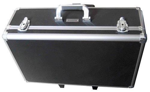 Zeikos ZE-HC52 Large Rolling Hard Case With Extra Padding Foam For Cameras, Camcorders, Digital DSLR and Photograpic Equipment. Built-In Handle and Wheels by Zeikos