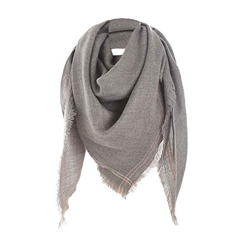 Fashion Women Classical Winter Warm Long Wool Shawl Soft Neck Scarf for Girl (Gray)