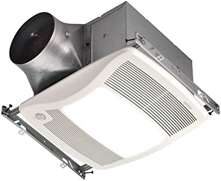 Broan ZB80ML Ultra Series Multi-Speed Motion Sensing Ventilation Fan Light, 80 CFM, 6 or 4 Duct