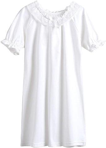 Niñas Camisón De Encaje Camisetas De Pijama Manga Corta T Shirts Vestido: Amazon.es: Ropa y accesorios