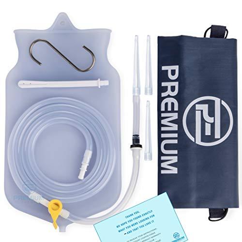Premium Enema Silicone Enema Bag Kit. Non-Toxic. BPA and Phthalates Free. Suitable For Home