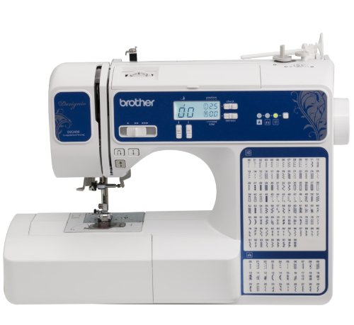 (Brother Designio Series, DZ2400, Computerized Sewing and Quilting Machine, 185 Built-in Stitches, Backlit LCD Display, Advanced Easy Needle Threading System, Variable Speed Control)