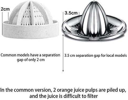 Limón Exprimidor de la categoría alimenticia 304 de Acero Inoxidable Manual exprimidor de cítricos con 400 ml Recipiente Adecuado for Todo Tipo de Frutas