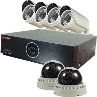 Revo America REH81D2GB4G-2T Elite HD 8 Channel Bundle 2TB with 2 Dome & 4 Bullet 1080P Cameras