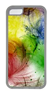 iPhone 5C Case and Cover - Color Blots TPU Rubber Case Cover for iPhone 5C - Transparent