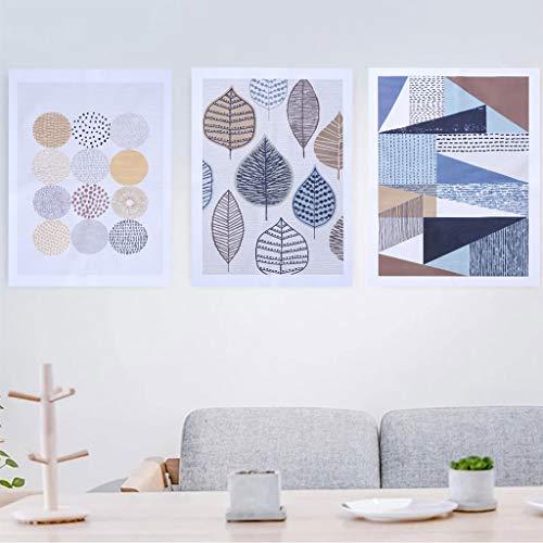Unframed Insert Panel - Ubilink 3 Piece Wall Art Unframed Canvas Wall Art for Living Room, 3 Panels (40x60cm) Abstract Art Wall Decor for Bedroom, Office, Bathroom