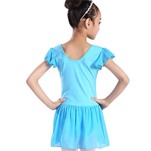LOEL Dress Tutu Blue Dance Girls Leotard Gymnastic Ballet Skirt qZwrBq4