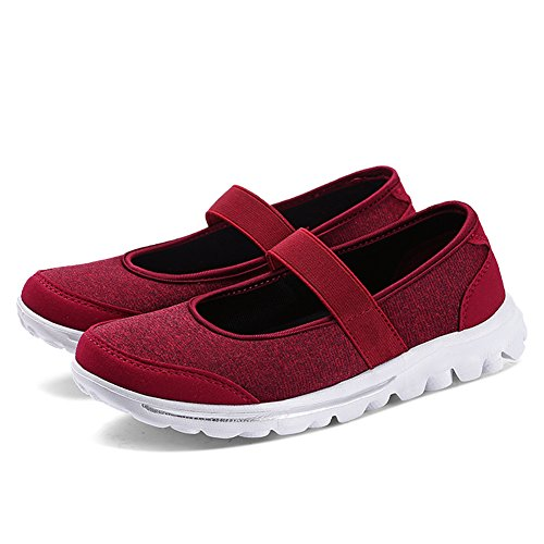 Red Enllerviid 5 Casual Lightweight Shoes M US Athletic Sneakers Women Mesh B 5 p80qwrp