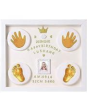 Baby Handprint Footprint Ornament Keepsake Kit, Baby Nursery Memory Art Kit, Xmas Gifts, Precious Moment for Newborn Personalized Baby Prints