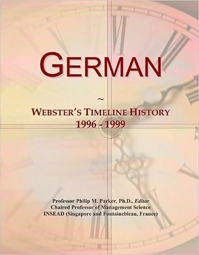 Book German: Webster's Timeline History, 1996 - 1999