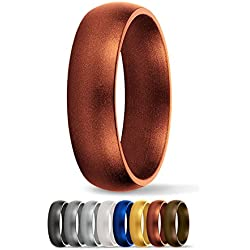 SafeRingz Silicone Wedding Ring, 6mm, Made in the USA, Men or Women, Copper 11