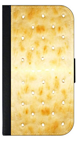 Saltine Cracker- Wallet Case for the Apple Iphone 5c only Universal with a Flap Cover and Magnetic Closing Flap-PU Leather and Suede