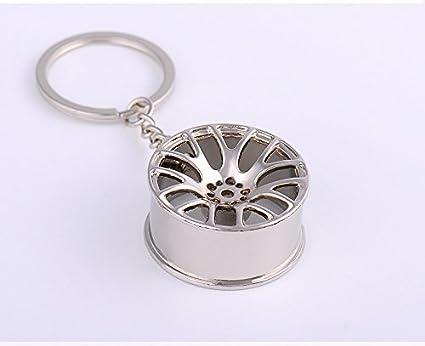 Automobile modification hub, turbo charging shape key buckle/keychain/bag ornaments (silver