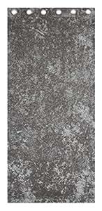 """Plata 66""""x 72anillo superior cortinas, de terciopelo y 17"""" botón cojín"""