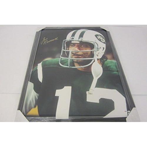 Joe Namath New York Jets Signed Autograph Framed Large Poster PSA DNA  Certified Coa 1223450ad
