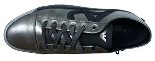Emporio Armani Armani Jeans–Basket Armani Jeans argentata b658042