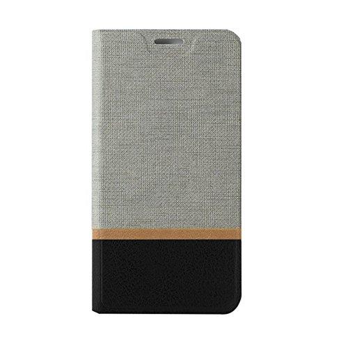 Funda Asus Zenfone 4 Selfie ZD553KL (5.5),SunFay Cartera Carcasa Flip Folio Caja Piel PU Suave Super Delgado Estilo Libro,Soporte Plegable para Asus Zenfone 4 Selfie ZD553KL (5.5) - Azul Gris