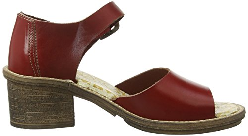 FLY London Clym500fly, Scarpe Col Tacco con Cinturino a T Donna Rosso (Rot (Red 004))