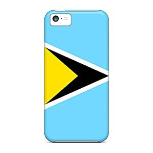 LauraKrasowski Cases Covers For Iphone 5c - Retailer Packaging Saint Lucia Flag Protective Cases
