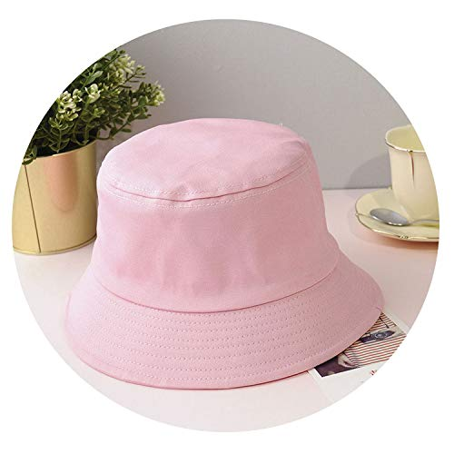 Geminilee Unisex Foldable Bucket Hat Outdoor Sunscreen Cotton Fishing Hunting Cap Sun Prevent Hats,Pink