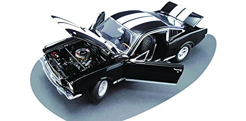 1965 Ford Shelby Mustang GT 350 Black with White Stripes Dealer Exclusive Estimated Production of 350pcs 1/18 by Acme A1801802B by Ford (Image #3)