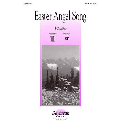 Easter Angel Song SATB composed by Cindy Berry, Pack of 3