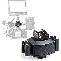Micnova MQ-THA Aluminium Alloy Pro Tripod Shoe Bracket Camera Mount Adapter for Lights, LED Monitors, Microphones, Audio Recorder & Studio Flash Video Camera (balck)