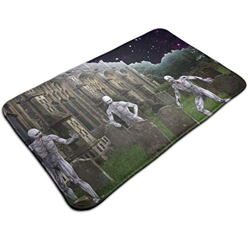 DIDIDI Scary Halloween Church Cemetery Graveyard Zombie Throw