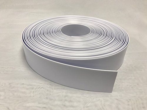 2'' Wide Vinyl Strap for Patio Pool Lawn Garden Furniture 20' Roll_ Make Your Own Replacement Straps. PLUS - 20 Free Fasteners! (201 White) by Sunniland Patio