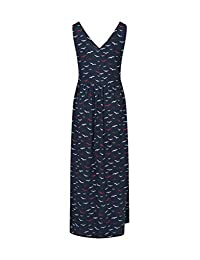Mountain Warehouse Venice Sleeveless Womens Maxi Dress -UV Protection Navy 8