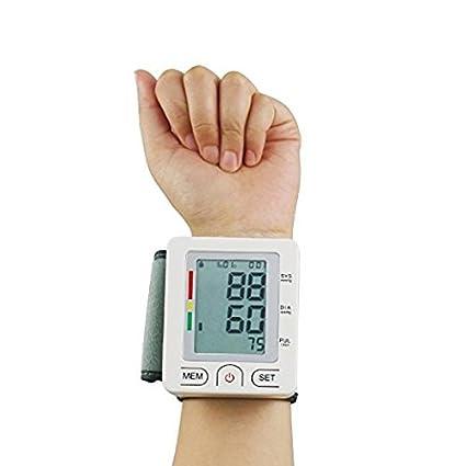 Monitor de presión sanguínea, alphamed muñeca presión arterial puños BP Monitor con memoria de almacenamiento pulso ...