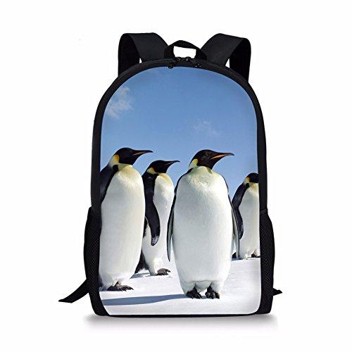 Nakgn Fashion South Pole Penguin Backpack Book Bag for Child