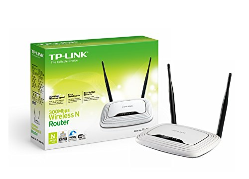 TP-Link TL-WR841ND Wireless N300 Home Router, 300Mpbs, IP QoS, WPS Button,  2 Detachable Antennas