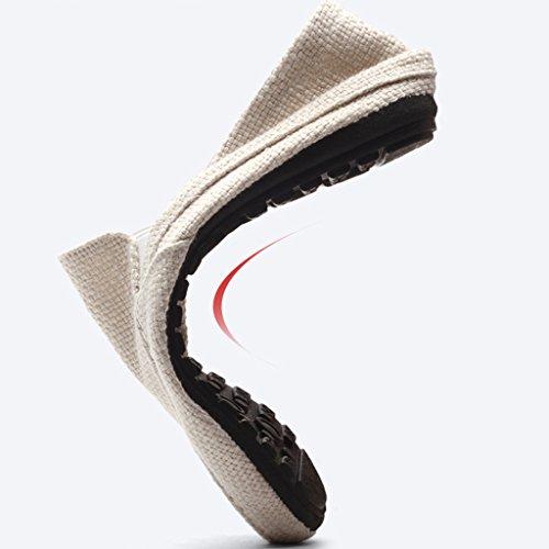 Beige scarpe Scarpe di uomo traspirante uomo casual Espadrillas tela coreano Size di tela stile uomini scarpe estate tela scarpe basse Color 41 Beige Scarpe da da YaNanHome di qpX6YXw