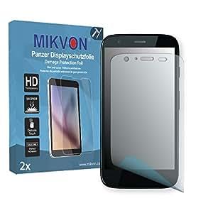 2x Mikvon Película blindada protección de pantalla Motorola MOTO G Dual Protector de Pantalla - Embalaje y accesorios