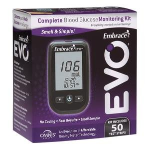 Embrace EVOª Blood Glucose Meter, All-in-One Starter Kit