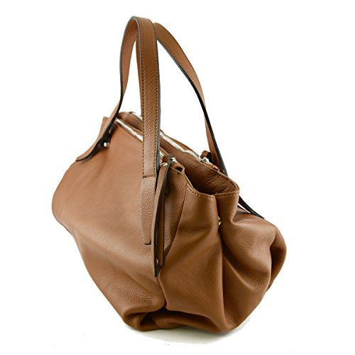 In Toscana Colore Italy Borsa Vera Donna Pelle Made Cognac Pelletteria qw56gp5