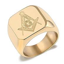 316L Stainless Steel Masonic Ring for Men Master Masonic Signet Ring Mason Ring Jewelry