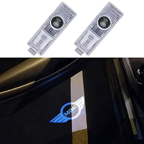 JKCOVER for Mini Cooper 3D Modified, Courtesy Lamp Car Door Welcome Lights DIY Projector Shadow