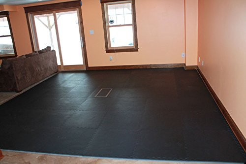 IncStores - 1'' MMA Interlocking Foam Tiles (Black/Grey, 6 Tiles (2ft x 2ft Tiles) 24 Sqft) - Perfect for Martial Arts, Lightweight Home Gyms, p90x, Insanity, Gymnastics, Yoga, Cardio and Aerobics by IncStores (Image #8)