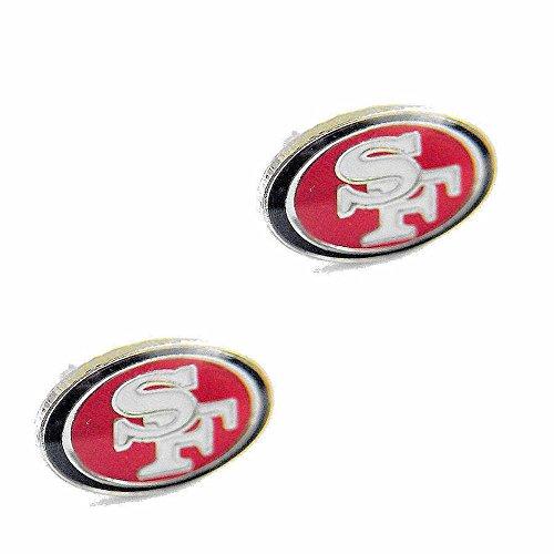 aminco San Francisco 49ers Post Stud Logo Earring Set Charm Gift ()