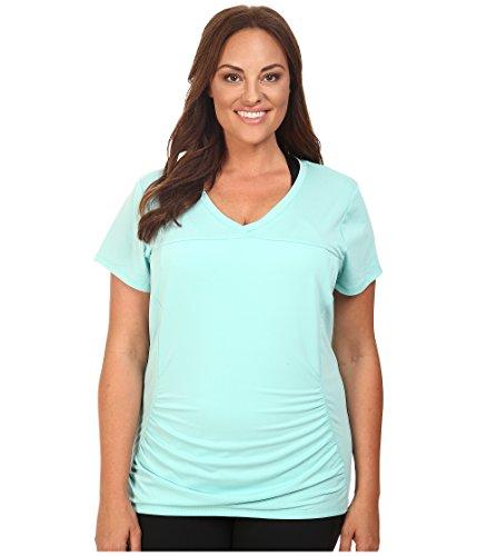 Marika Curves Women's Plus Size Elizabeth Slimming Tee Pool Blue T-Shirt 0X