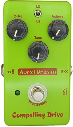 Aural Dream Compelling Drive High-Gain Blues Boosting 2 models Overdrive Guitar Effects Pedal True Bypass ()